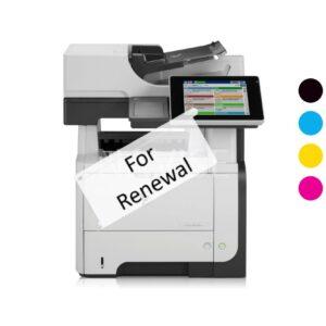 HP M575dn Printer Rental Renewal Credit